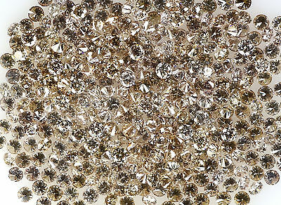 100% Real Natural Loose Round Brown Si Diamond 1.10 to 1.25 MM 35 pcs Lot Q49