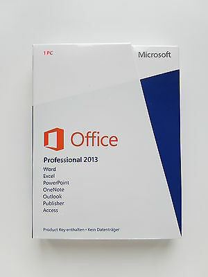 MS Office 2013 Professional Pro Vollversion Deutsch Medialess PKC 269-16149 NEU