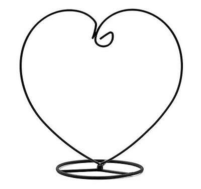 3pcs Heart Metal Ornament Hook Stand Christmas Store Display Candlestick Wedding