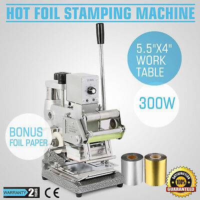 Stamping Machine Hot Foil W/ 2 Foil Paper Leather Embosser High Level Embossing