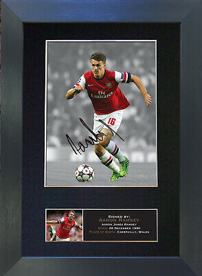 AARON RAMSEY Arsenal Signed Mounted Autograph Photo Prints A4 403