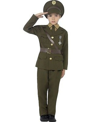 New Child Boys Army Officer Costume - 2 Sizes