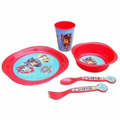 Paw Patrol 5pc Meal Dinner Bowl Cup Plate Cutlery Set