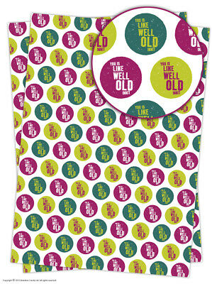 Brainbox Candy Well Old Innit funny wrapping paper gift wrap sheets birthday
