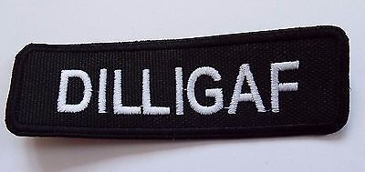 DILLIGAF Embroidered Sew On Biker patch New Motorcycle Chopper