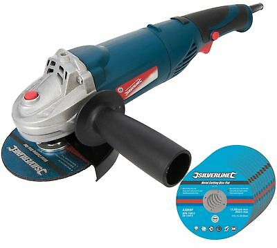 "950w Electric Angle Grinder 4.5"" 115mm Grinding With 10 Free Cutting Discs"