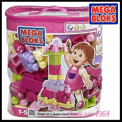 Mega Bloks Pink Bag 70Pc First Builders New Age 1+ 8315