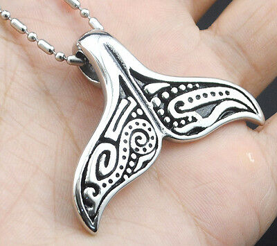 Whale Tail Dolphin Necklace Boho Maori Hawaii Surf Diving Beach Pendant Jewelry