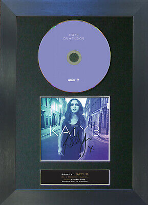 KATY B On A Mission Signed CD Mounted Autograph Photo Prints A4 2