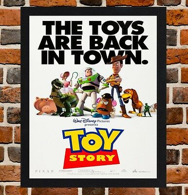 Framed Toy Story Movie Poster A4 / A3 Size Mounted In Black / White Frame  -