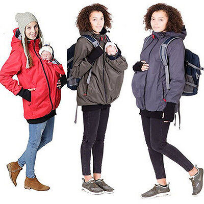 Jacket Kangaroo Winter Maternity Outerwear Raincoat Pregnant Women Baby Carrier