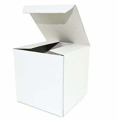 """White Wedding Favor Candy Gift Boxes 4x4x4"""" - 50 Boxes"""