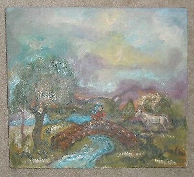 Burliuk Oil on Canvas Signed in Lower Right