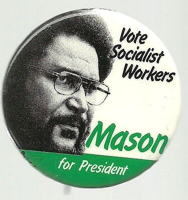 Melvin Mason For President Socialist Workers Party Political Pin