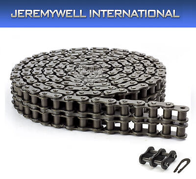 120-2 Double Strand Duplex Roller Chain 10 Feet with 1 Connecting Link
