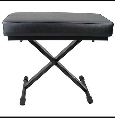 --SALE--Keyboard Stool with Comfortable Padded Seat - Adjustable X Frame Piano