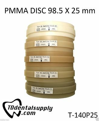 PMMA (98mm x 25mm) Packages of 2 Various Shades Available