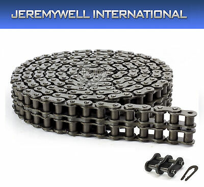 #100H-2 Double Strand Duplex Roller Chain 10 Feet with 1 Connecting Link