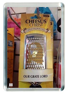 Fridge Magnet Cheese Grater Grate Jesus Christ Great Lord Kitchen Quotes Saying