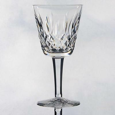 """Pair Of Signed Waterford Crystal """"lismore"""" Claret Wine Glass"""