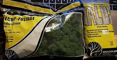 Woodland Scenics FC683 Medium Green Clump Foliage & Talus Rock Debris C1278 Fine