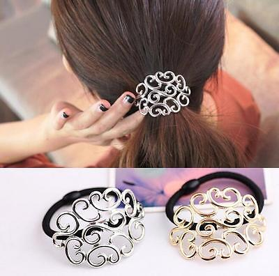 Women Crystal Elastic Hair Ties Band Ropes Ring Ponytail Holder Accessories