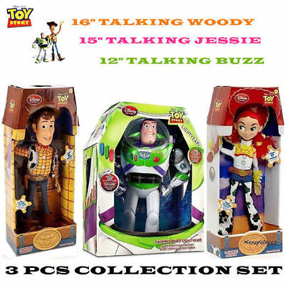 New Toy Story Woody Jessie Doll Talking Toy Action Figure Figurines Box Set Kid
