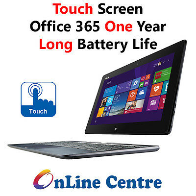 """Asus T100 2-in-1 Transformer 10"""" Touch Quad Core 32GB SSD 5GHz WiFi Office365"""