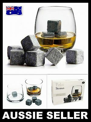 9 PCS Whisky Ice Stones Drinks Cooler Cubes Whiskey Scotch On Rocks Chillers