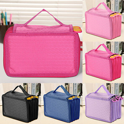 72 Stylos trousse scolaire rangement maquillage sac crayon pinceaux 4 couches