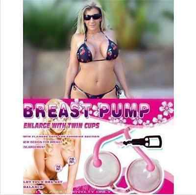 Enlargement Woman's Double Breast bigger C to D Cup Nipple Larger Vacuum Pump
