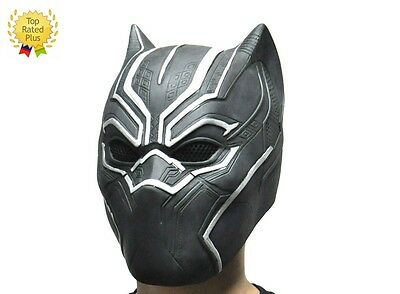 Black Panther Mask - Cosplay Halloween Party Fancy Dress - Marvel Avengers New