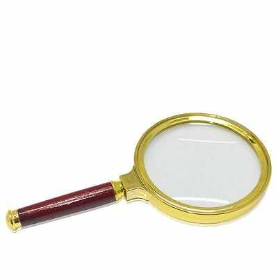 5X Magnifier Magnifying Glass Loop Loupe Reading With 90mm Classic Handheld