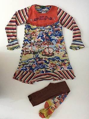 OILILY Dress & Tights Age 6 Years / 116 Long Sleeved Girls Outfit Set 2 Piece