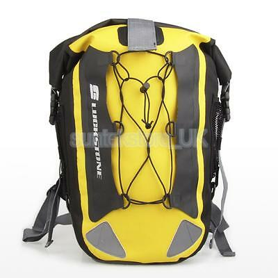 Yellow 30L Waterproof Dry Storage Bag Backpack Canoeing Kayaking Camping