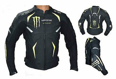 MotorBike Leather Jacket for summer and cold season ( 2XL)