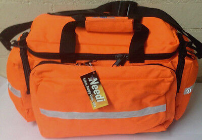 Needi First Responder EMS EMT Paramedic Trauma Bag With Reflectors - Orange Neon