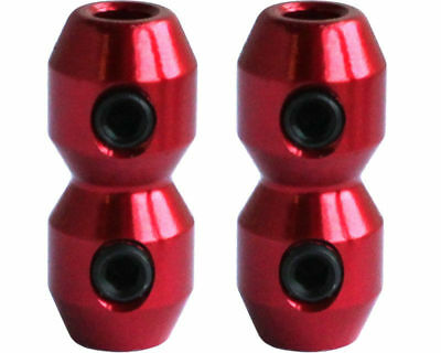 Aluminium Anodised Cable Clamp x 2 for Brake & Throttle in Red UK KART STORE
