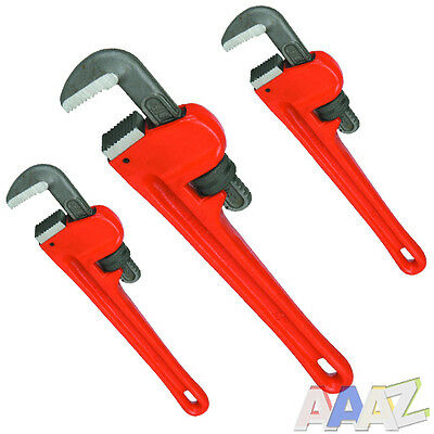 Large Heavy Duty Adjustable Stilson Plumbers Monkey Pipe Wrench Spanner Tool