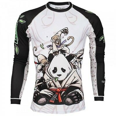 Tatami Gentle Panda Rash Guard BJJ No-Gi MMA Compression Top Brazilian Jiu Jitsu