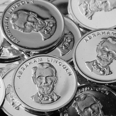 Abraham Lincoln / Lot of 30 - 1g .999 Fine Silver Round Bullion Mini Coin RE320