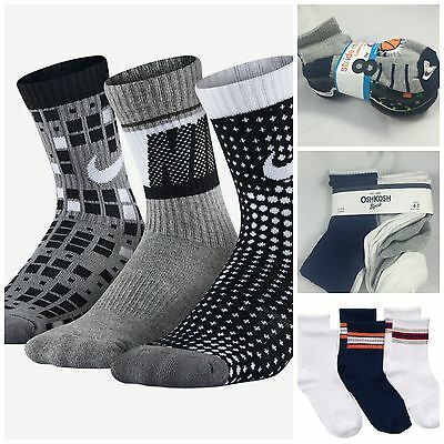 Boys Socks of all Sizes 15 Styles Crew Long Short *US SHIPPER FAST SHIPPING*