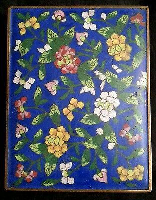 Vintage Chinese export cloisonne playing cards box