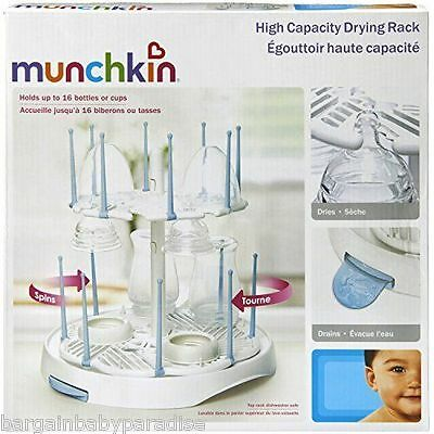 NEW Munchkin High Capacity Drying Rack - Holds up to 16 Bottoles or Cups