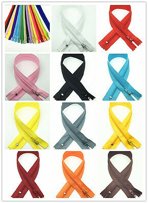 5-200PCS Nylon Coil Zippers Tailor Sewer Craft 12 Inch (30cm)Crafter's