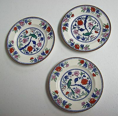 3 Vintage BOOTH'S England Plates