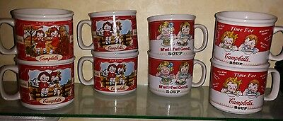*Set of 8*.Campbell's Campbells  Soup Mugs