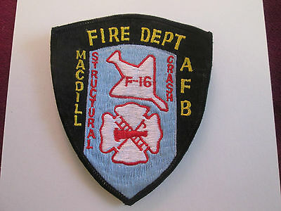 MacDill AFB Fire Department Structural Crash F-16 Patch