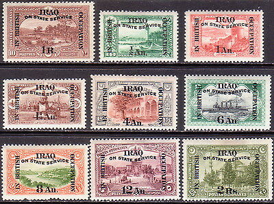 1921-23 IRAQ SG #O32 + O33-O40 MH CV £248 Official
