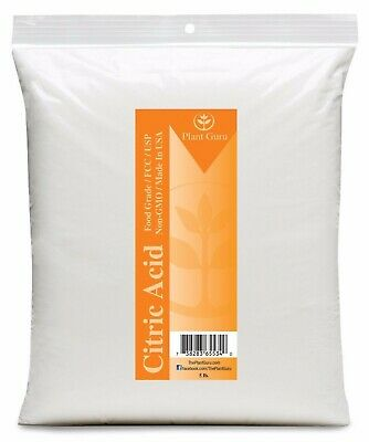 Citric Acid Powder 5 lb. Food Grade Pure USP FCC Grade HIGHEST QUALITY Bulk